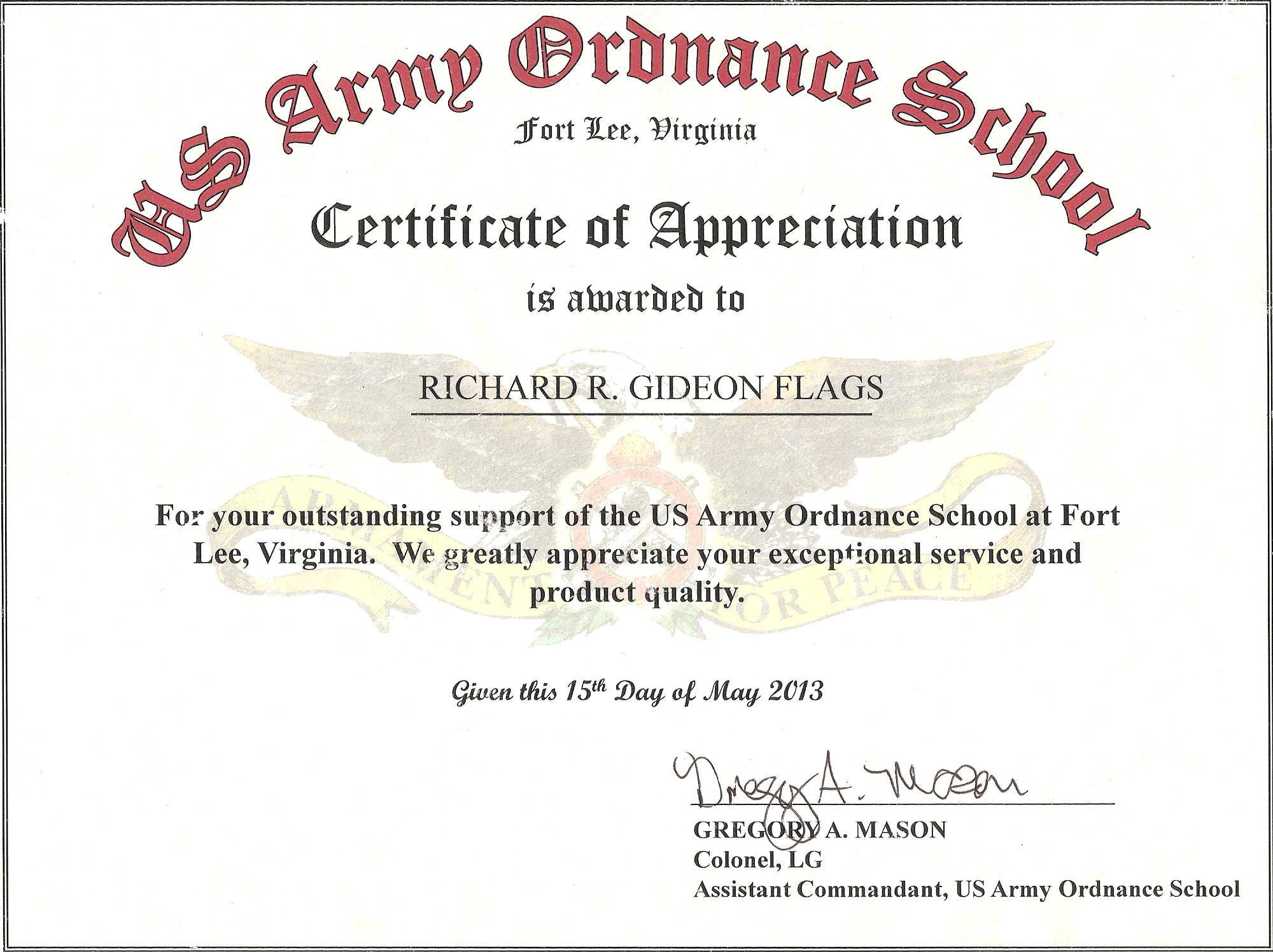 Army certificate of appreciation template datariouruguay yelopaper